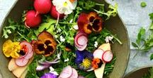 Floral Food & Drink / Flowers can be pretty delicious too! Check out these floral recipes to get your tastebuds tingling.