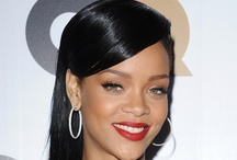 Rihanna hairstyles / RIHANNA is a fearless hair CHAMELEON. From EDGY cuts and EXAGGERATED shapes, to STATEMENT COLOUR - she's the ULTIMATE Style Maverick