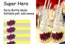Super Hero party theme / Collected ideas for kids super hero themed birthday party.
