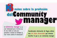 community manager / Infografías con todo lo relacionado al Community Manager.