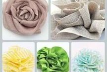 Paper and fabric flowers