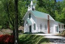 White Country Churches / Oh, how I love little white country churches... / by I Share My Pins!