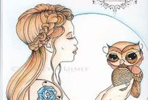 Fantasy Art Prints / Quality prints from my original art featuring owls, horses, fairies, wild cats and so much more. From the original art of Concetta Kilmer