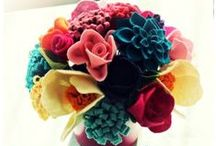 Felt flowers and bouquets