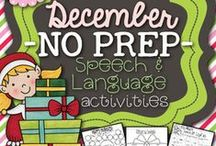 Speech Therapy: December / Holidays, Celebrations, and Traditions