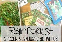 Speech Therapy:  April / Speech therapy activities:  Rainforest, Endangered Animals, Earth Day