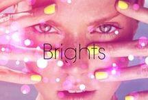 Brights / Nails so bright... have to wear shades. ;)