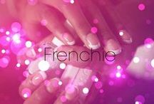 Frenchie / New twists on the classic French manicure. #nails