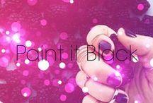 Paint it Black...or grey or navy... / dark-hued nails
