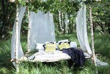 Outdoor Rooms / A special place to go and read, or sleep, or just daydream.