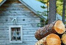 Farmhouse Charm / Farmhouse and Log Cabins Charm - Inspiration for the renovation