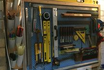 My small garage space / Ideas from Pinterest with a few mods into my workshop