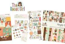 The Reset Girl Scrapbook Collection / Groovy geometric patterns paired with playful icons, gold foil accents & fashionable florals represent The Reset Girl's signature style - now available in a scrapbook collection!  Coordinates beautifully with the Carpe Diem Reset Girl planners & planner accessories.