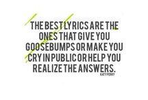 Prose, Quotes, Lyrics