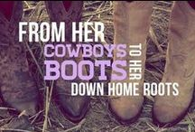 She's all country, from her cowboy boots to her down home roots... / Every now and then, a girl misses the South.