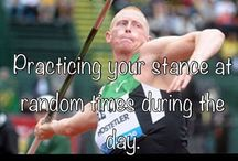 Track and FIELD Life!!! <3 / I may be a thrower but runner humor is the best. Together we make a great sport. / by Peyton Gallegos