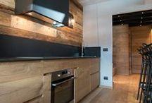 Idee courma  cucina e soggiorno / Chalet cucina legno