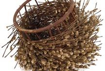 Baskets / I began making baskets in my twenties...I still love the feel of woven reed beneath my fingers