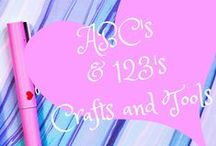 ABC & 123's crafts and tools / Different ideas for learning the alphabet and numbers for preschoolers and younger