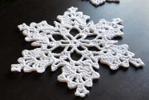 snowflakes (crochet - bead)