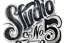 typography / by Brad Taphouse