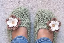 slippers, shoes (crochet)