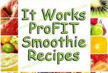 It Works ProFIT Smoothies / Enjoy these healthy, nutricious Smoothies with Ultimate ProFIT from It Works! www.GetHealthierWithMe.com / by Janet Fossen / Get Healthier With Me