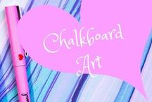 Chalkboard Art / A collection of chalkboard inspired art and tutorials to design your own