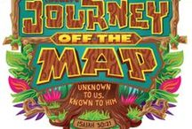"{Journey off the Map - VBS 2015} / Lifeway's VBS Theme for 2015 is ""Journey Off the Map"".   Unknown to us, known to Him. Isaiah 30:21  VBS 2015 is based on Daniel.    #lifeway #vbs2015 #journeyoffthemap #Isaiah30:21  #jungle #safari    / by Charli McCaskill"