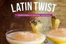 LATIN TWIST: Traditional & Modern Cocktails (2015) / LATIN TWIST: Traditional & Modern Cocktails is an all-new collection of drinks from Latin America and Spain. Whether you are hosting a backyard fiesta or entertaining a few friends, there is a drink in this book for every occasion.