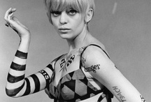 MOD / 1960's Mod dollybird Twiggy and Cher monochrome inspirations