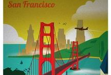 San Francisco Travel Posters, Postcards, Advertisements and Illustrations