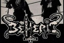 "Beherit / The most primitive, savage, hell-obsessed black metal imaginable. ""Beherit"" is the Syriac word for Satan."