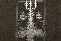 Black Metal flyers / #black metal #flyers #black and white