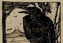 Birds / #crows #ravens #dark crows #mystic animals #dark arts #eagles #animals in art