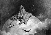 Edgar Allan Poe, The Raven Illustrations / Edgar Allan Poe, The Raven Illustrations #horror stories #suspense #noire