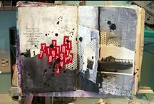 Art Journal page spreads / Inspirational examples of Art and/or Visual journals