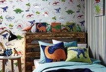 Dinosaurs / Walk with dinosaurs! Take a step back in time to the jurassic period and immerse your kids in a dinosaur themed bedroom, with our fun and colourful Dinosaur bedding, curtains, furniture and room decor!
