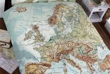 Maps and Navigation / Maps and Navigation  themed bedding and room decor