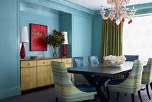 Triadic Colour Schemes / Interior Design colour schemes that use three colours spaced evenly around the colour wheel.