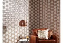 Geometric Wallpaper / Stylish and modern geometric wallpaper prints, in a whole range of colours, suitable for feature walls and entire rooms in a range of colours and finishes.