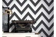 Chevron Wallpaper / Make a statement. Stylish chevron, zigzag patterned wallpaper in a range of colours. Ideal for feature walls and any room of the house.