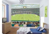 Football / Got a football fanatic in the house? Decorate their room with football (soccer) themed bedding, curtains, lighting, furniture and wallpaper. We've even got some of the major clubs covered!