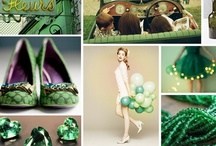 Wedding/Party: Green / Party planning ideas that include themes and color combinations of: Emerald, mint, seafoam, lime, olive, moss, green apple and Kelly Green.