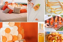 Wedding/Party: Orange / Party planning ideas that include themes and color combinations of: Orange, burnt orange, tangerine, kumquat, pumpkin, papaya, salmon, coral and peach.