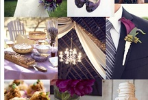 Wedding/Party: Purple / Party planning ideas that include themes and color combinations of: Purple, violet, plum and eggplant, lavender, and periwinkle.