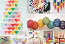 Wedding/Party: Rainbow/Unicorn / Party planning ideas that include themes and color combinations of various color palettes including Rainbow/Pride, Carnival/Circus and Candy Shoppe.
