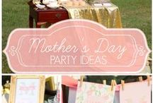 Holiday Party: Mother's Day / Mother's Day party planning inspiration including food recipes, décor, gift wrapping and gift giving ideas.