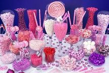 Candy Buffets & Dessert Tables / DIY inspiration and themes to help create the perfect sweets table for your next event including links to supplies such as wholesale candy and apothecary jars.