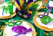 Holiday Party: Mardi Gras / Mardi Gras holiday party planning inspiration including, food recipes and décor ideas.